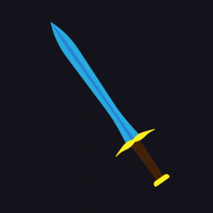 blue tip sword
